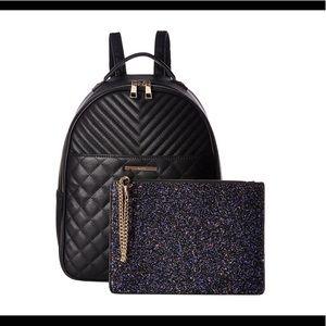 Black and purple glitter Aldo backpack